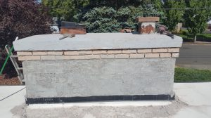 Chimney/stucco repair. Salem, Oregon