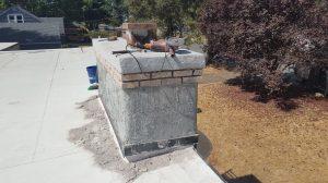 Scratch coat stucco/chimney repair.