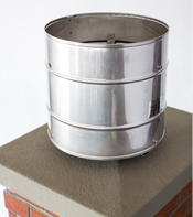 Stainless steel monsoon chimney rain cap. Used for storm conditions. Stops downdrafts and blowing rain from entering the chimney.