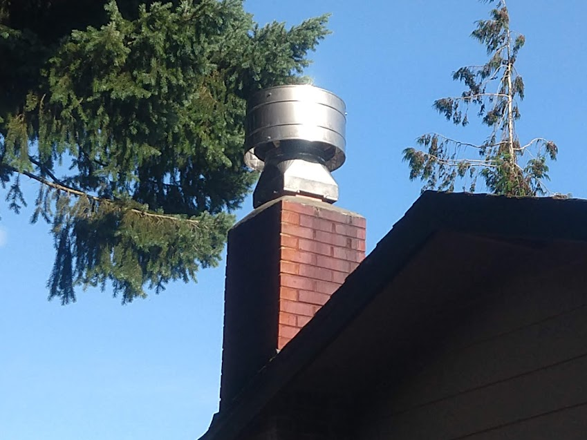 Photo of a monsoon rain cap, which keeps rain out of chimneys in stormy, windy weather.