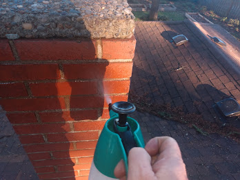 Waterproofing a chimney with Siloxane